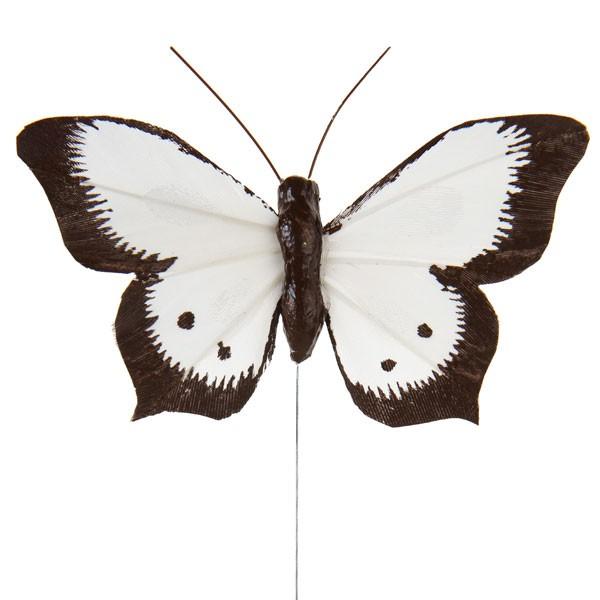 Deko-Schmetterlinge weiß