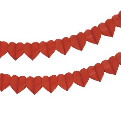 Papiergirlande rote Herzen