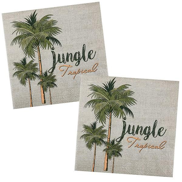 Papierservietten Dschungelparty Palmen