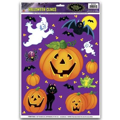 Fensterbild halloween k rbisse kinder party deko grusel geist fledermaus spinne mottoparty zubeh r - Halloween fensterbilder ...