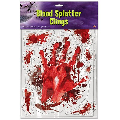 Fensterbilder Blutspritzer und Abdrücke