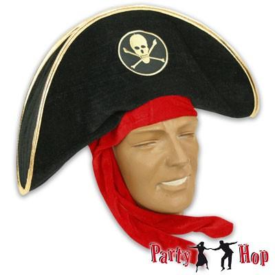 Piratenhut Plüsch mit Kopftuch