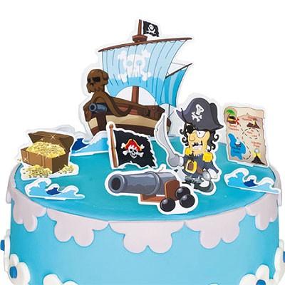 Kuchendeko Tortendeko Piraten Kindergeburtstag Partydeko Feier