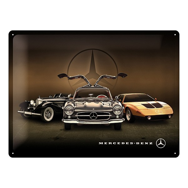 Mercedes Benz Blechschild 3 Cars