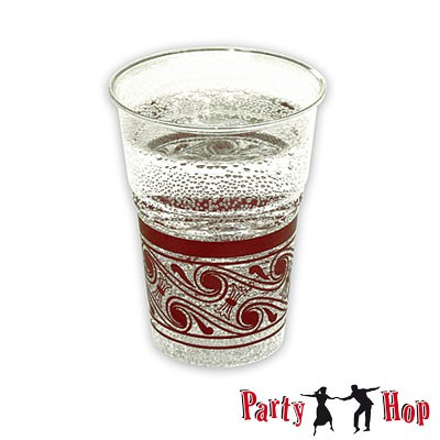 Kunststoffbecher transparent bordeaux