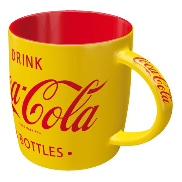 Coca Cola Tasse yellow