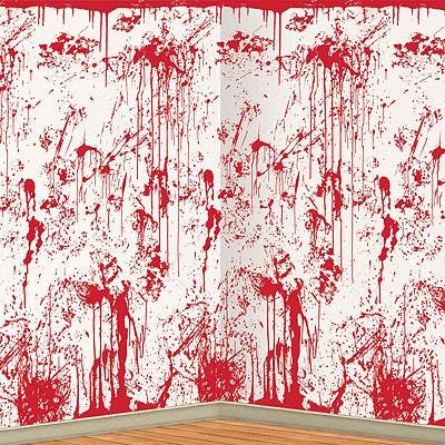 Halloween Partydeko Blutspritzer Massaker Wandfolie Party Hop
