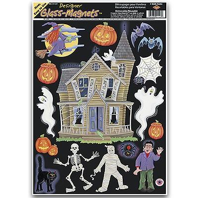 Halloween deko fensterbild spukhaus geisterhaus party - Halloween fensterbilder ...