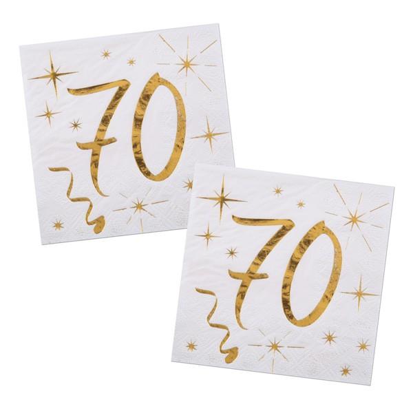 Servietten 70. Geburtstag gold