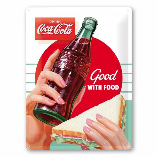 Coca Cola Blechschild with Food