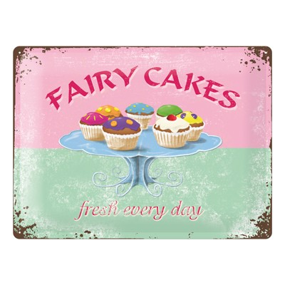 Blechschild Fairy Cakes 30x40 cm