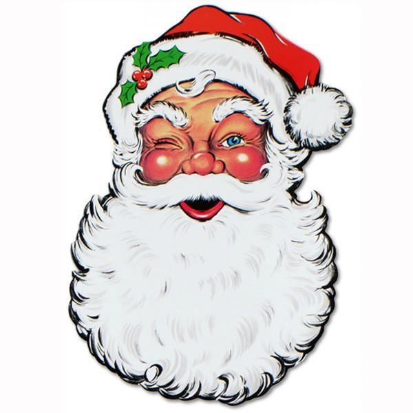 Deko lachendes Weihnachtsmann-Gesicht