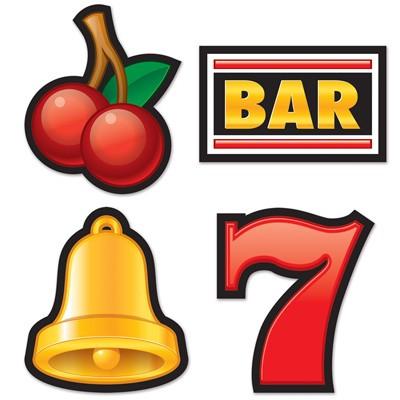 Partydeko Slot Machine Symbole