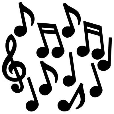 partydeko musiknoten & notenschlüssel für mottopartys & feiern