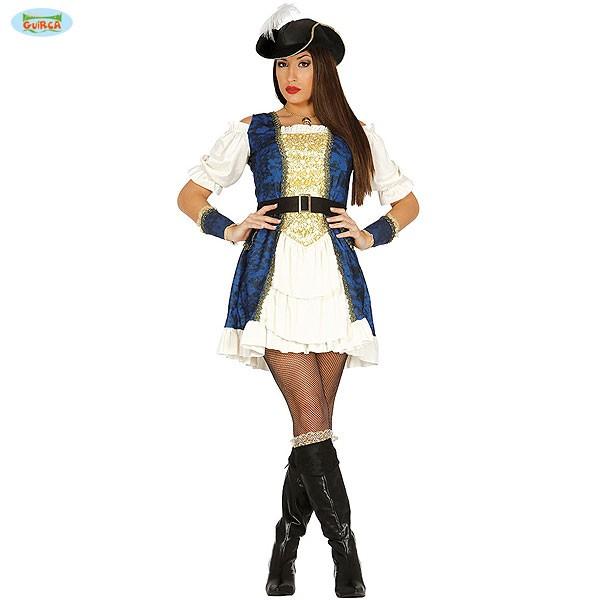 Kostüm Piratin Kosarin blau M