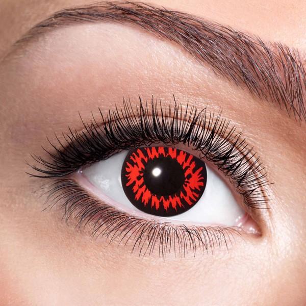 Farbige Kontaktlinsen ohne Stärke Red Wolf