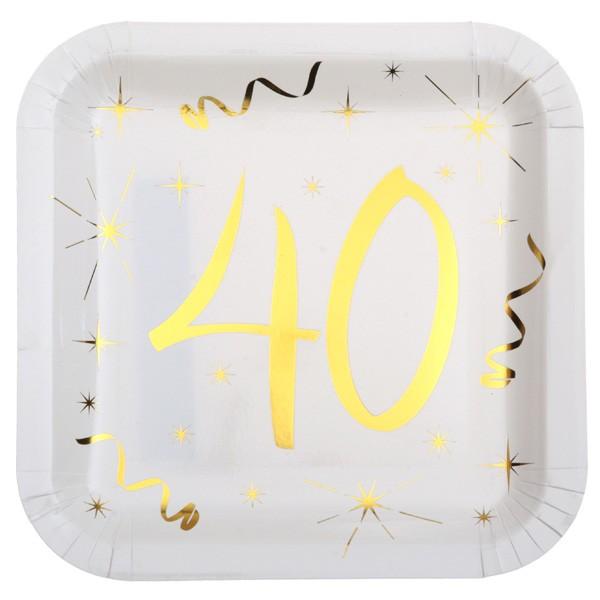 Partyteller 40. Geburtstag gold