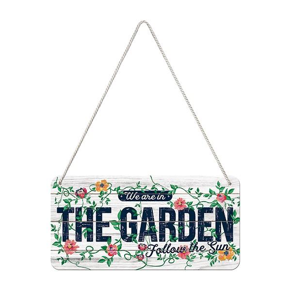 Hängeschild Blech Garden 20x10cm