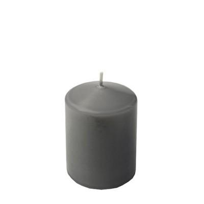 Stumpenkerze grau