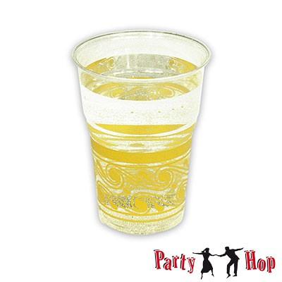 Kunststoffbecher transparent gelb