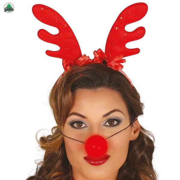 Weihnachts-Set Rudolph Geweih Nase