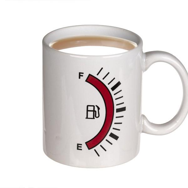 Kaffeebecher Kraftstoffanzeige