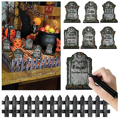 Tischdeko Halloween Buffet Party Motto Friedhof Geist Gespenst