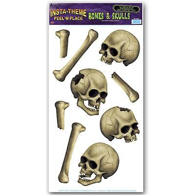 Haftbilder Totenschädel und Knochen