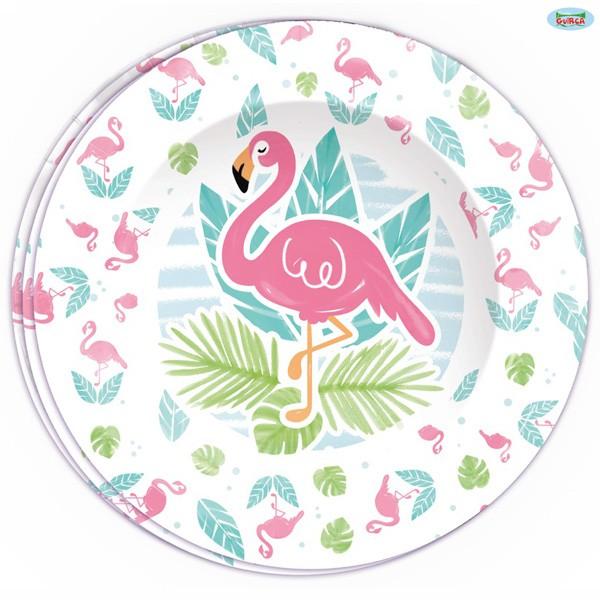 Pappteller Flamingo 8 Stück