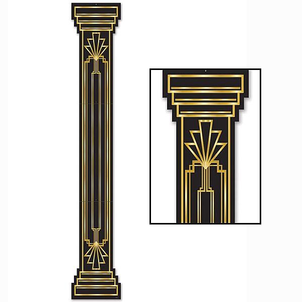 20er jahre party wanddeko s ule great 20s 180 cm party hop. Black Bedroom Furniture Sets. Home Design Ideas