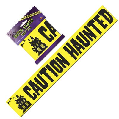 Party-Absperrband Caution Haunted