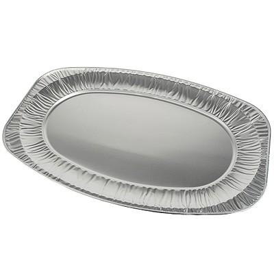 Servierplatten Alu oval groß