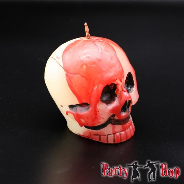 Halloweenkerze Totenkopf