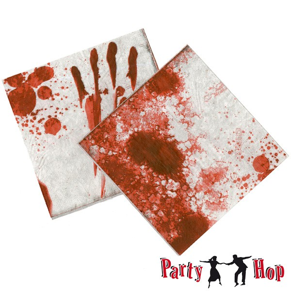 Halloween Servietten Blutspritzer
