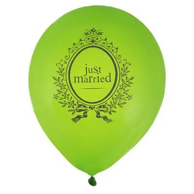Luftballons Just Married grün