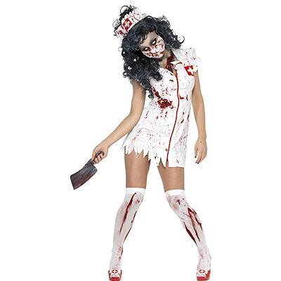 Zombie Krankenschwester Kostum Blut M Halloween Karneval Mottoparty