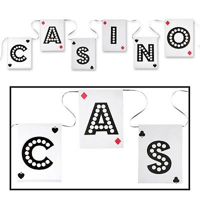 Flaggengirlande Casino