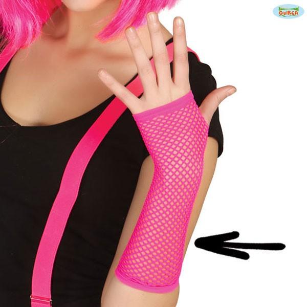 Netzhandschuhe neon-pink