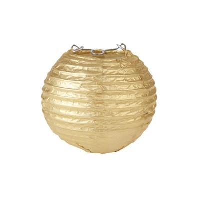 Partydeko Papierlampions S gold