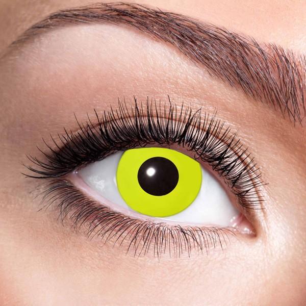 Gelbe Kontaktlinsen ohne Stärke Yellow