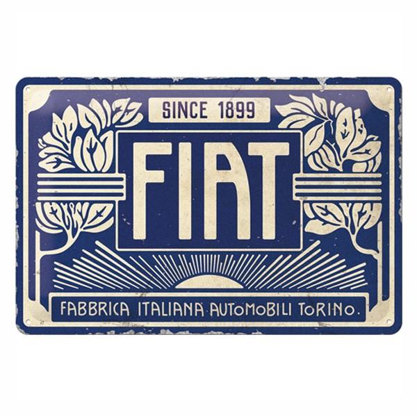Blechschild Fiat 1899 30x20cm