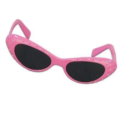 Party-Sonnenbrille 50er Jahre pink