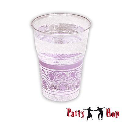 Kunststoffbecher transparent lila