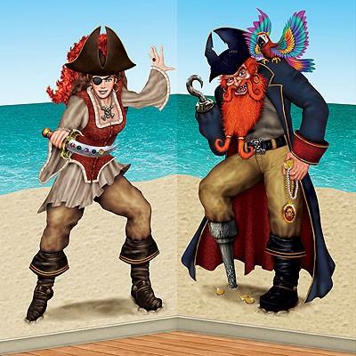 Wanddeko-Set Piratenbraut und Pirat
