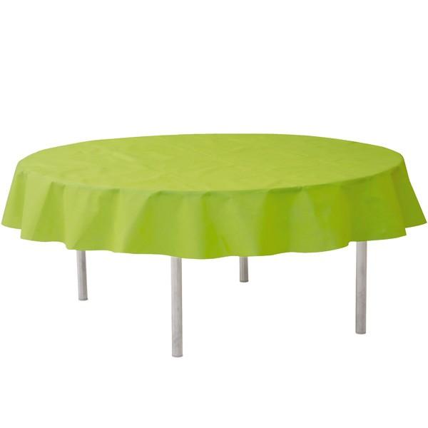 Vlies-Tischdecke hellgrün rund