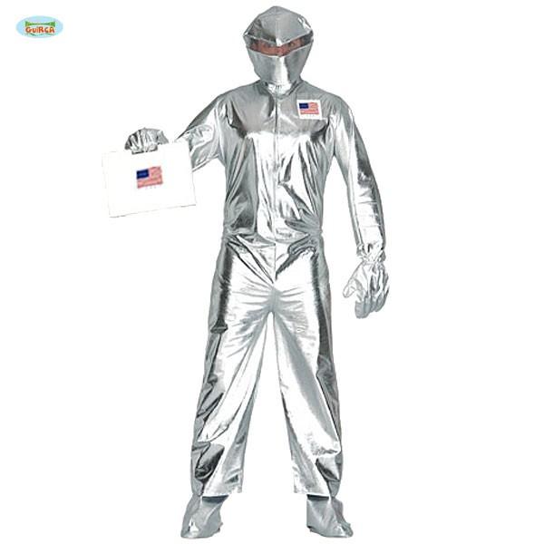 Kostum Astronaut Silberner Weltraumanzug Usa Fasching Karneval Alien
