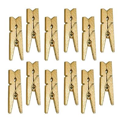 Goldfarbene miniatur w scheklammern dekoklammern tischdeko for Besondere dekoartikel