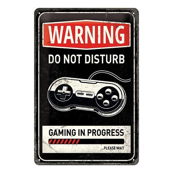 Blechschild Gaming In Progress 20x30cm