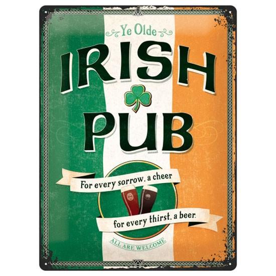 Blechschild Irish Pub