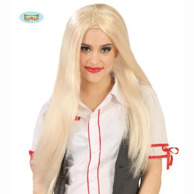 Kostümperücke Damen lang blond